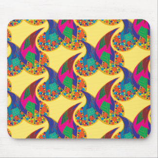 Rainbow drops I Mouse Pad