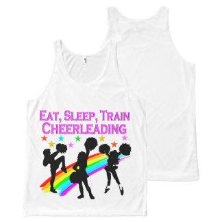 RAINBOW EAT SLEEP CHEERLEADING DESIGN