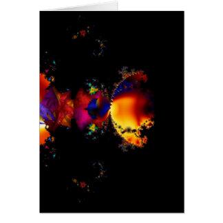 Rainbow Eclipse Fractal Art Card