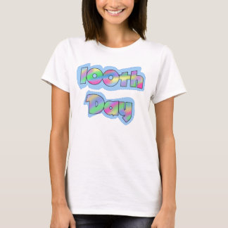 Rainbow Effect 100th Day of School Tshirts