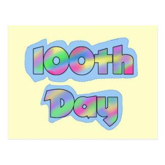 Rainbow Effect 100th Day of School Tshirts Postcard