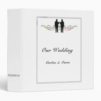 Rainbow Elegance Groom Gay Wedding Binder