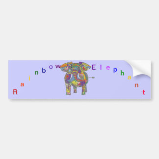 Rainbow Elephant, colourful design,for anyone. Bumper Sticker