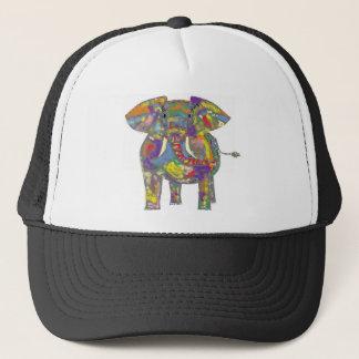 Rainbow Elephant, colourful design,for anyone. Trucker Hat