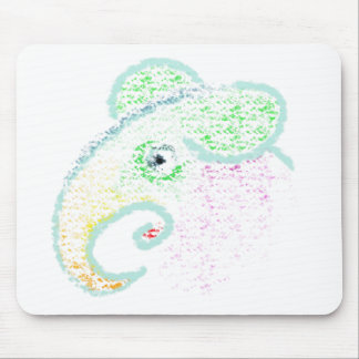 Rainbow Elephant Mouse Pad