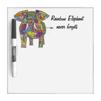 Rainbow Elephant never forgets. Dry-Erase Whiteboards