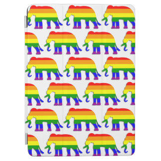 Rainbow elephant pattern iPad air cover