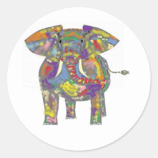 Rainbow Elephant stickers