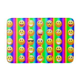 rainbow emoji bathroom bathmat bath mat