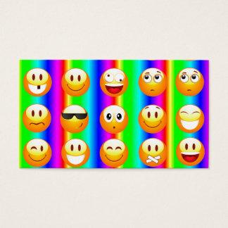 rainbow emoji business card