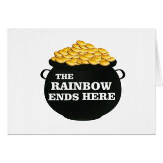 rainbow ends here card