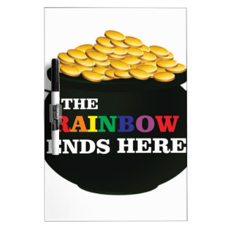 rainbow ends pot dry erase board