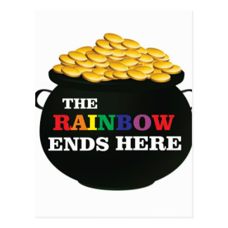 rainbow ends pot postcard