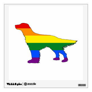 Rainbow English Setter Wall Decal