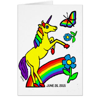 Rainbow Equality Unicorn Card