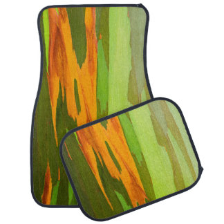 Rainbow Eucalyptus bark, Hawaii Car Mat