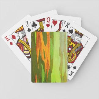 Rainbow Eucalyptus bark, Hawaii Poker Deck