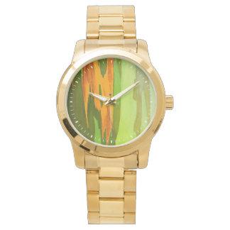 Rainbow Eucalyptus bark, Hawaii Wrist Watches