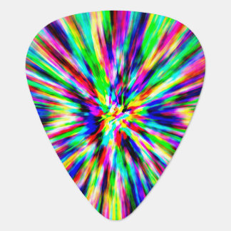 Rainbow Explosion Guitar Pick