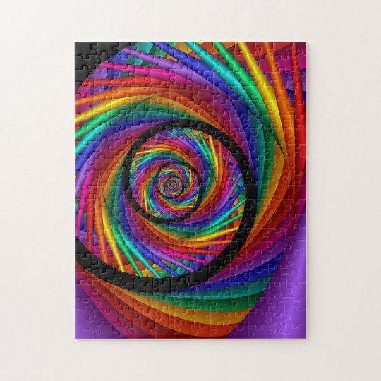 Rainbow EYE Fractal Jigsaw Puzzle