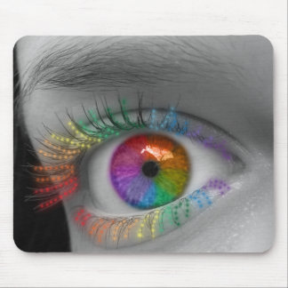 Rainbow Eye Mouse Pad