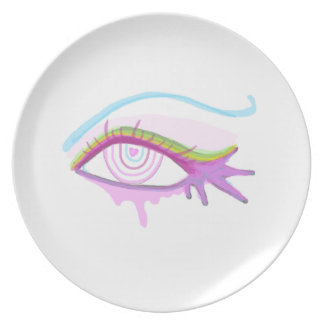 Rainbow Eye Party Plate