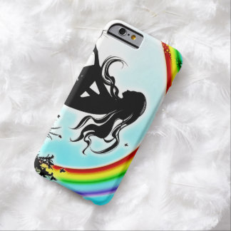 Rainbow Faerie Airbrush Art iPhone 6 Case Barely There iPhone 6 Case