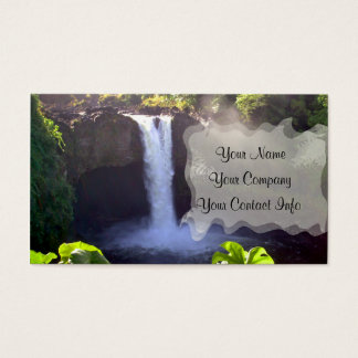 Rainbow Falls Business Card Template