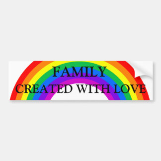 Rainbow Family Made with Love Bumper Sticker