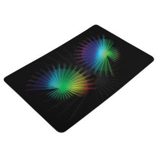 Rainbow Fan Floor Mat