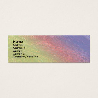 Rainbow Fantasy Mini Business Card