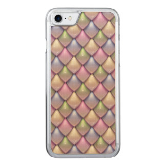 Rainbow Fantasy Scale Pattern Carved iPhone 7 Case