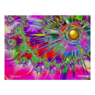 Rainbow Fantasy Sun Print