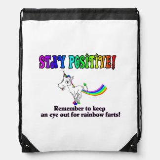Rainbow Fart Bag Cinch Bag