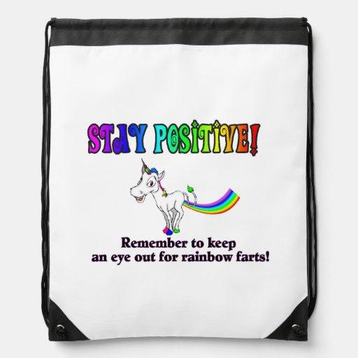 Rainbow Fart Bag Drawstring Bag