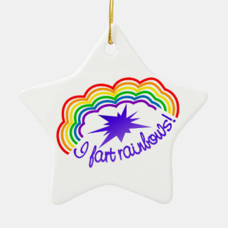 Rainbow Farts ornament, customize Ceramic Ornament