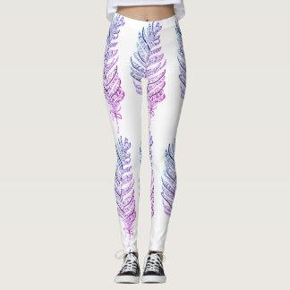 Rainbow Feather Leggings