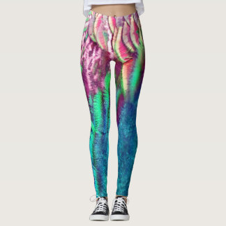 Rainbow Feathers Running Leggings