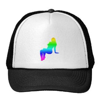 Rainbow Female Silhouette Trucker Hat