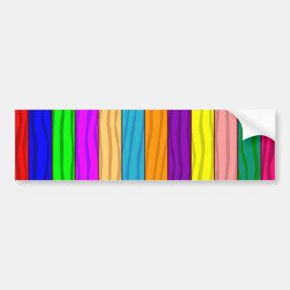 Rainbow Fence Bumper Sticker