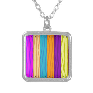 Rainbow Fence Silver Plated Necklace