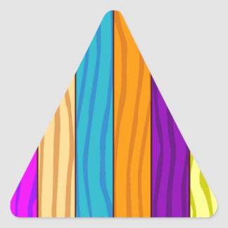 Rainbow Fence Triangle Sticker