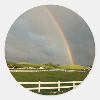 Rainbow Field Farm Stretch Sticker