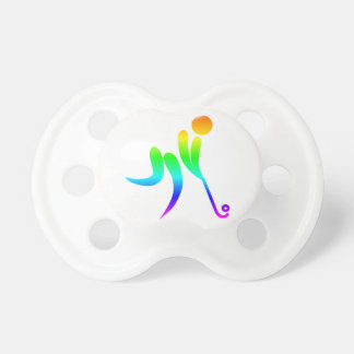Rainbow Field Hockey Pacifier