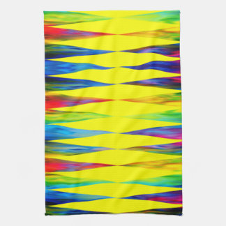 [Rainbow Fiesta] Bright Harlequin Geometric Kitchen Towel
