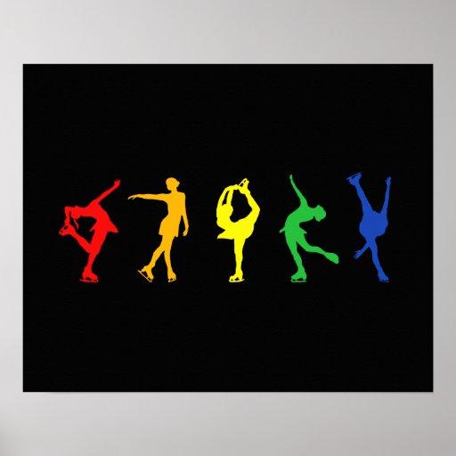 Rainbow Figure Skaters Posters