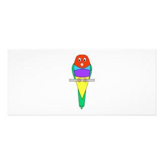 Rainbow Finch Bird. Colorful Gouldian. Rack Card