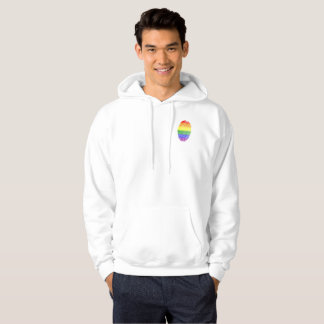 Rainbow FingerPrint Hooded Sweatshirt
