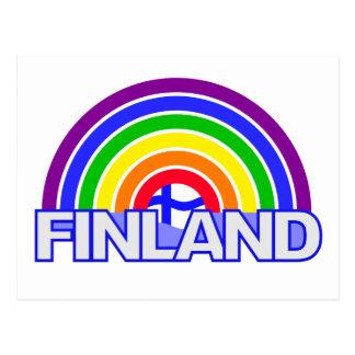 Rainbow Finland postcard