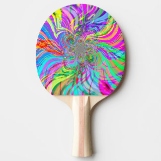 Rainbow Fire Ping Pong Paddle
